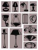 lampor royaltyfri illustrationer