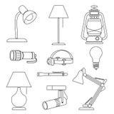 lampor vektor illustrationer