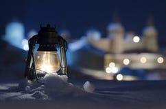 Lampor av staden Royaltyfri Foto