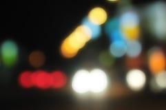 lampor för 1 suddigheta stad Royaltyfri Foto