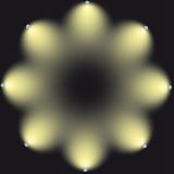 Lampor för belysningkula stock illustrationer