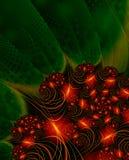 lampor för julfractalbild royaltyfri illustrationer