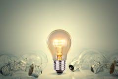 Lampor för ljus kula stock illustrationer