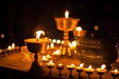 Lampor för Yaksmör i Tibet Royaltyfri Bild