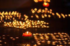 Lampor för Yaksmör i Tibet Royaltyfri Fotografi