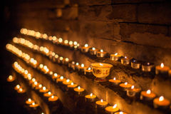 Lampor för Yaksmör i Tibet Arkivbilder