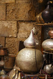 Lampor hantverk, souvenir i gata shoppar i cairo, Egypten Arkivbilder