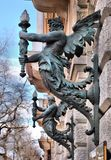 Lampor i Budapest Arkivbilder