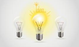 lampor i en linje royaltyfri illustrationer