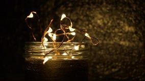 Lampor i exponeringsglaset Royaltyfri Fotografi