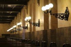 Lampor i synagogan Arkivfoto
