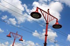 Lampor i Wroclaw Royaltyfri Fotografi