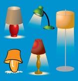 Lampor och belysning vektor illustrationer