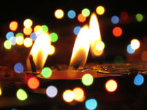 Lampor och färger Arkivbild