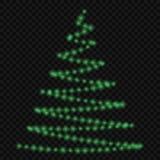 Lampor på julgran stock illustrationer