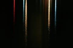lampor reflekterat vatten arkivfoto