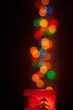 Lampor som emering från stearinljuset arkivfoto