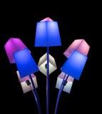 Lampor under lightshowglöd Royaltyfri Bild