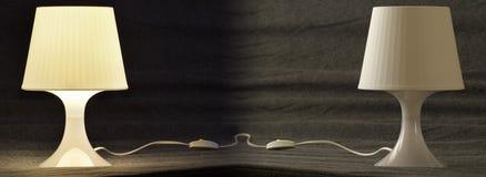 lampor ut upp Arkivfoto