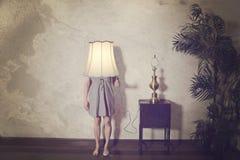 Lamporna är på Royaltyfri Foto