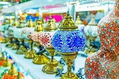 Lamporna av målat glass Royaltyfria Foton