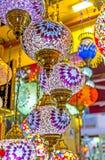 Lamporna med blommor Royaltyfria Foton