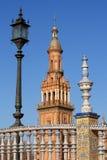 Lampost and ceramics at Plaze de Espana Stock Image