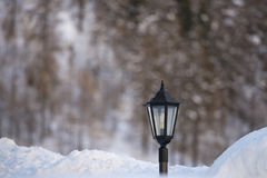 Lampost covered by snow Stock Images