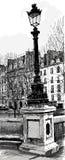 Lampost en París Fotos de archivo libres de regalías