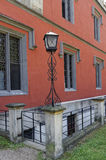 Lampost in front of Hradek u Nechanic Stock Photography