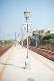 Lampost na platformie Zdjęcia Stock