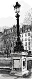 Lampost a Parigi Fotografie Stock Libere da Diritti