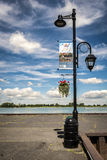 Lampost in Verchère Quebec Stock Photos