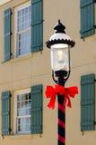 lampowa czerwona tasiemkowa ulica Obraz Royalty Free