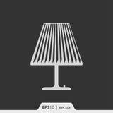 Lampowa stołowego wierzchołka ikona dla sieci i wiszącej ozdoby Obraz Stock
