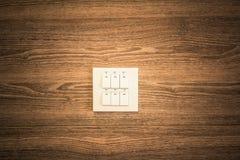lampowa zmiana na drewnianych ścianach Zdjęcia Royalty Free