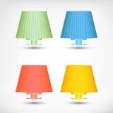 Lampowe ikony Obraz Stock