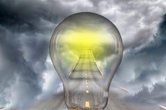lampowej żarówki pomysłu sposób Obraz Royalty Free