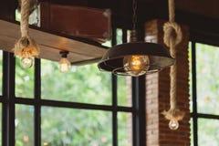 Lampowej żarówki rocznika styl Zdjęcia Stock