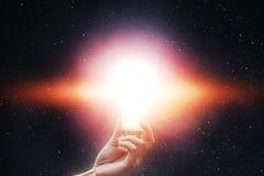 Lampowy światło gwiazdy w niebie obraz royalty free