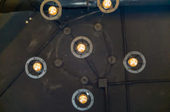Lampowy obwieszenie puszek sufit Zdjęcie Stock