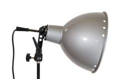 Lampowy odbłyśnik na biel stronie Zdjęcie Royalty Free