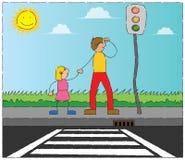 lampowy ruch drogowy royalty ilustracja