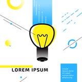 Lampowy simbol pomysłu abstrakt Obraz Royalty Free