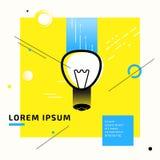 Lampowy simbol pomysłu abstrakt Obraz Stock