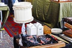 Lampowy stawiający na sprzedaży w Montreux Zdjęcia Royalty Free