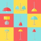 Lamppictogrammen Stock Afbeelding