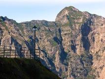 Lamppost στη mountaineous περιοχή της Μαδέρας, Πορτογαλία στοκ εικόνες
