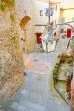 Lamppost στη Tuscan πόλη Anghiari Στοκ εικόνα με δικαίωμα ελεύθερης χρήσης
