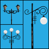 lamppost stock illustrationer